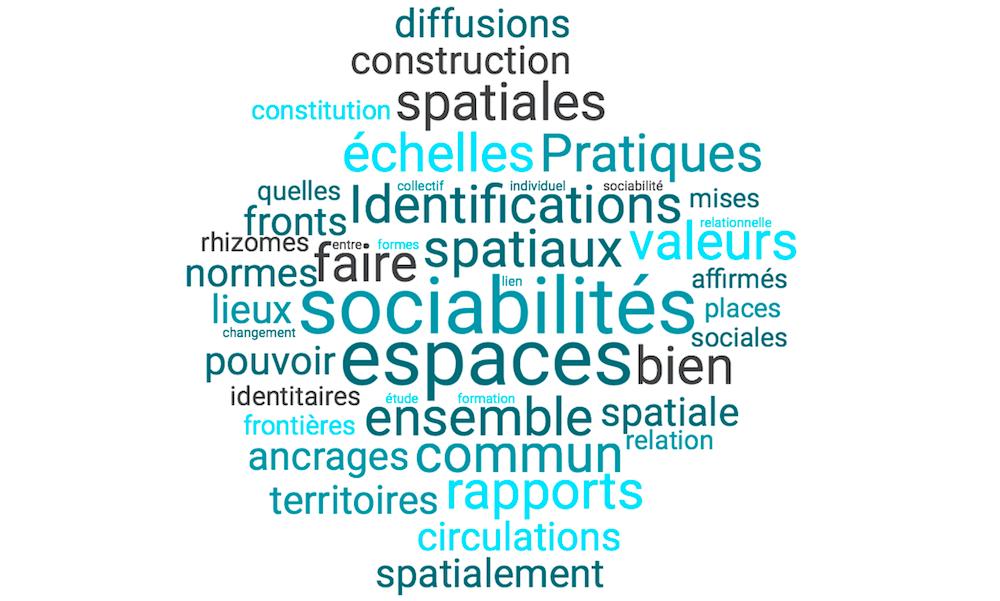 Mots liés à l'axe identifications et sociabilités