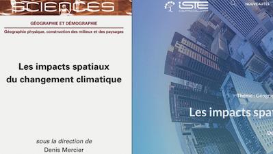 Contributions d'Alain Cariou et de Delphine Gramond dans l'ouvrage «Les impacts spatiaux du changement climatique» sorti chez ISTE