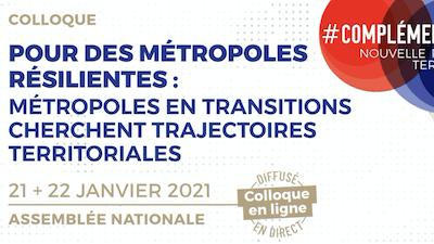 Read more about the article Participation de X.Desjardins au colloque «Pour des métropoles résilientes» POPSU 21-22 janv. 2021