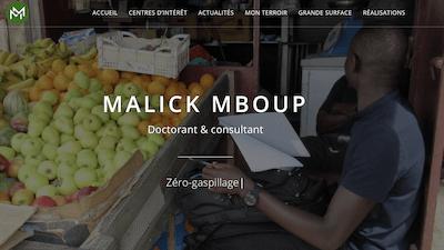 Read more about the article Ouverture du site web de Malick Mboup, doctorant au sein du laboratoire MEDIATIONS