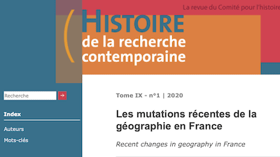 Read more about the article Contribution de Catherine Fournet-Guérin au numéro de la revue d'Histoire Contemporaine (n°1 – 2020)