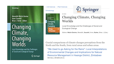 Read more about the article Contribution de Zenaïde Dervieux à «Changing Climate, Changing Worlds – Local Knowledge and the Challenges of Social and Ecological Change» (Springer Ed.)