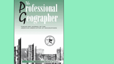 Read more about the article Anne-Cécile Mermet publie dans «The Professional Geographer»