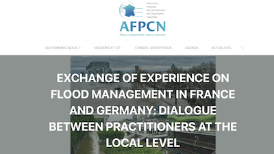 Read more about the article Prof. Patrick Pigeon in a French-German experience sharing on Fluvial Flood Risk Management