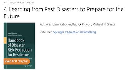 Read more about the article Patrick Pigeon co-auteur avec Julien Rebotier et Mickaël H. Glantz chez Springer