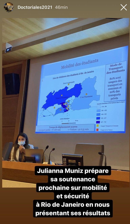 Read more about the article Soutenance de thèse de Juliana MUNIZ 14 sept. 2021