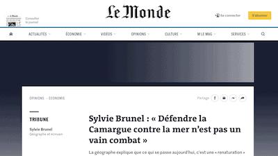 Read more about the article Sylvie Brunel auteure d'une tribune dans le journal Le Monde