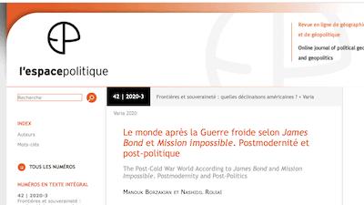 Read more about the article Manouk Borzakian publie dans L'Espace Politique